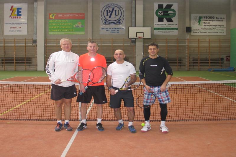finaliści turnieju deblowego w Łęcznej