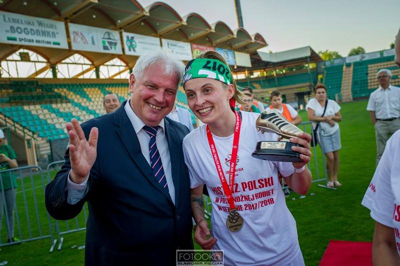 Ewelina Kamczyk najskuteczniejsza piłkarka GKS Górnik Łęczna